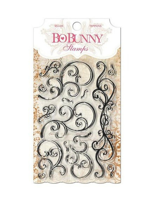 "BoBunny Clear Stamps 4""X6"" Scrolls Curly Q Stamp"