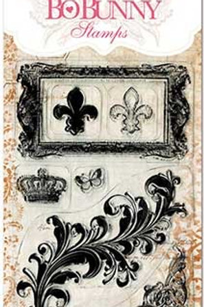 "BoBunny Clear Stamps 4""X6"" ""Flourishes"""
