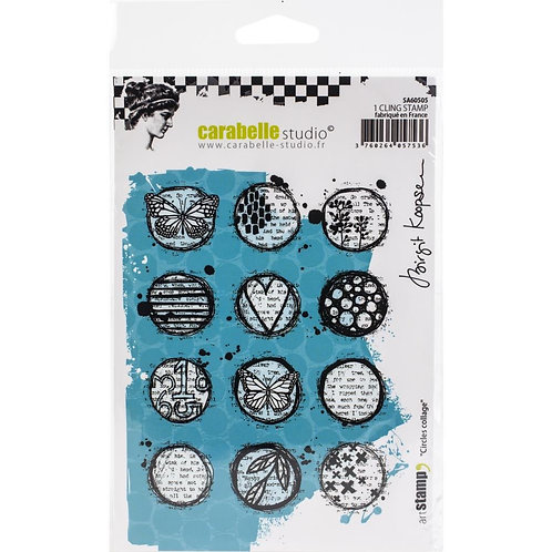 """Carabelle Studio Cling Stamp A6 """"Circles Collage"""""""