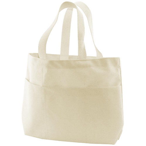 "Canvas Small Pocket Tote Bag 9""X2.75""X10"""