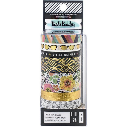 Vicki Boutin Media Washi Tape Ass 8 Rolls Let's Wander