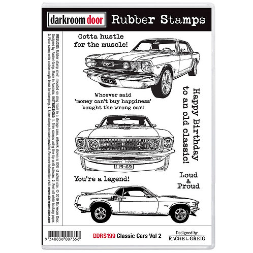 "Darkroom Door - ""Classic Cars Vol 2""  Cling Rubber Stamp"