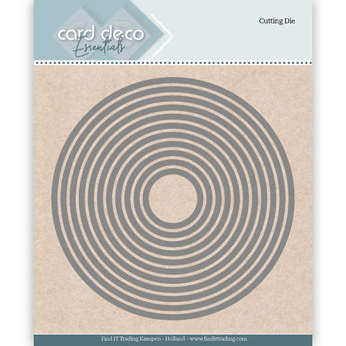 Card Deco Circle Cutting Dies 11pcs
