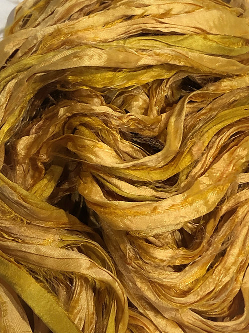 5M Sari Silk Sunflower  (5Meters)