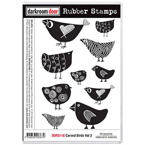 """Darkroom Door - """"Carved Birds Vol 1""""  Rubber Stamp"""