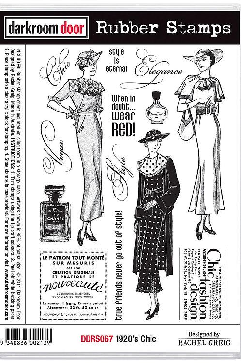 """Darkroom Door - """"1920's Chic""""  Cling Rubber Stamp"""