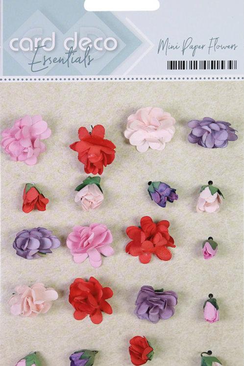Card Deco Essentials Mini Paper Flowers 20pcs