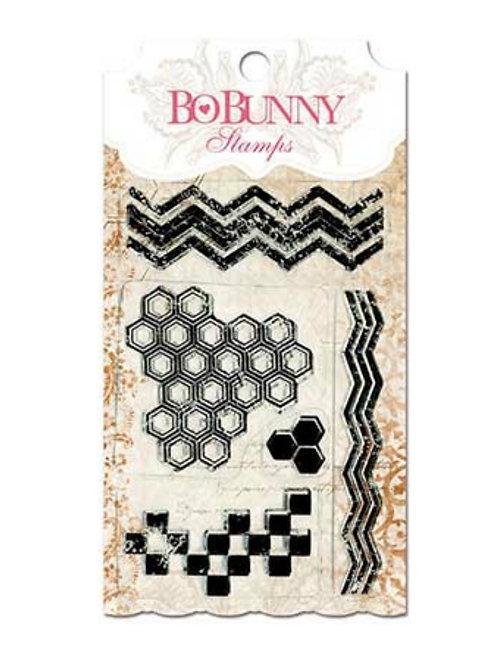 "BoBunny Clear Stamps 4""X6"" ""Geo Patterns"""