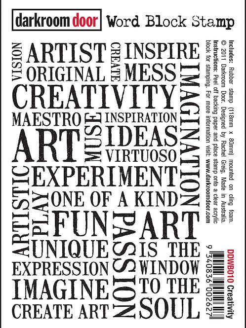 Creativity - Darkroom Door Word Block Stamp