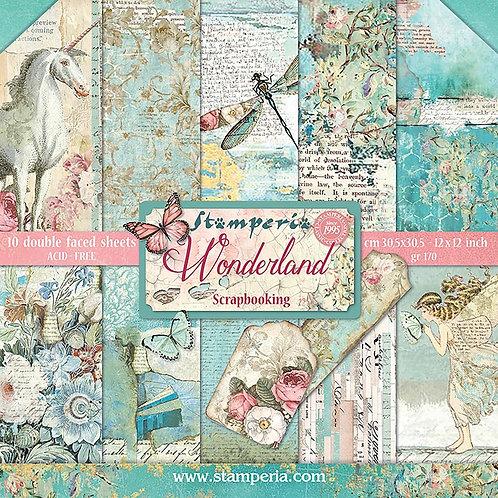 """Stamperia 12"""" x12"""" Paper pack """"Wonderland"""""""