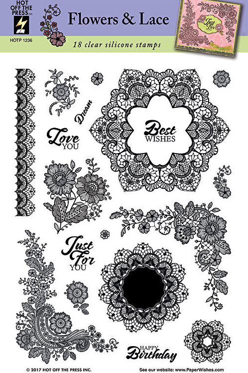 """Flower Frenzy"" Polymer 3 step Stamp Set - 33 acrylic Stamps"