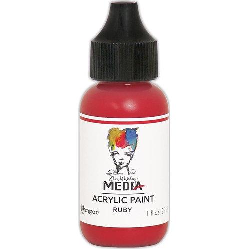 """Dina Wakley Media Acrylic Paint 1oz """"Ruby"""""""