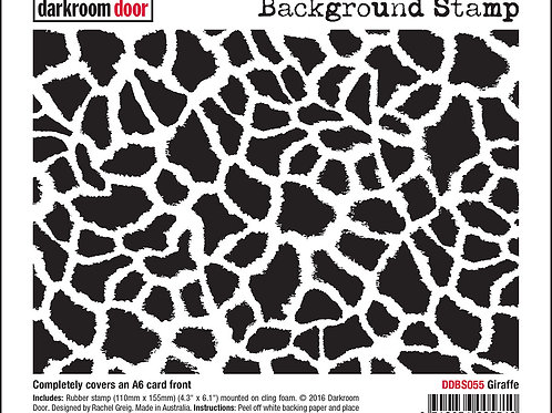 "Darkroom Door - ""Giraffe""   Background Rubber Stamp"