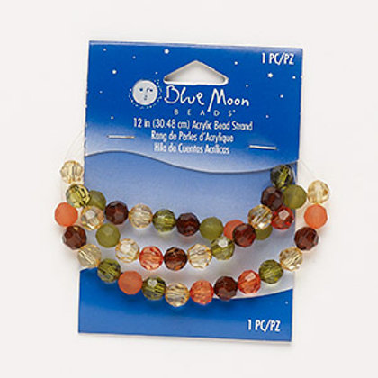 Bead mix, acrylic, translucent and transparent multicolored, 8mm faceted round.