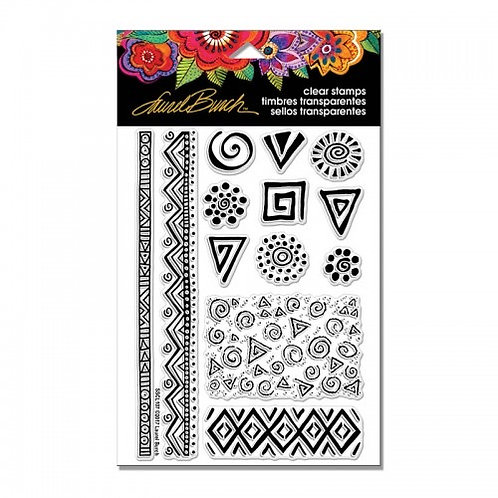 "Tribal Abstract Icons Stampendous Clear Stamps by Laurel Birch 4""x6"""