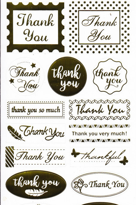 "Gold ""Thank You"" Stickers"