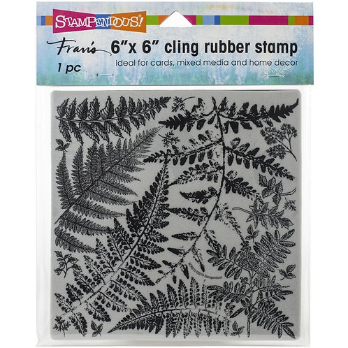 """""""Fern Garden"""" 6""""x6"""" Background Stampendous Cling Mount Rubber Stamps"""