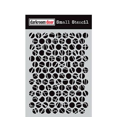"Darkroom Door Stencil - ""Polka Dots""   4.5"" x 6"""