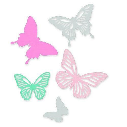 """Butterflies"" Thinlits Dies by Sizzix."