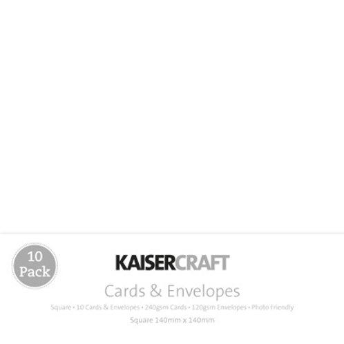 Kaisercraft White C6 Cards & Envelopes 10 Pack