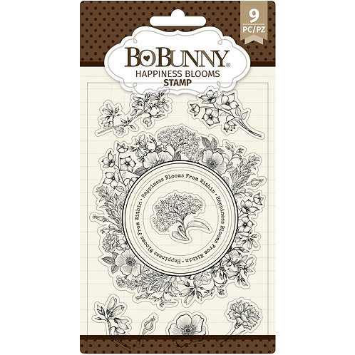 """BoBunny Clear Stamps 4""""X6"""" Happiness"""