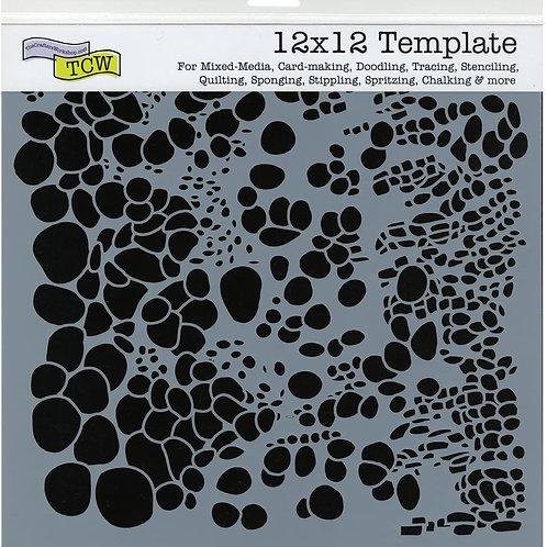 "TCW 12x12 Stencil ""Cell Theory"""