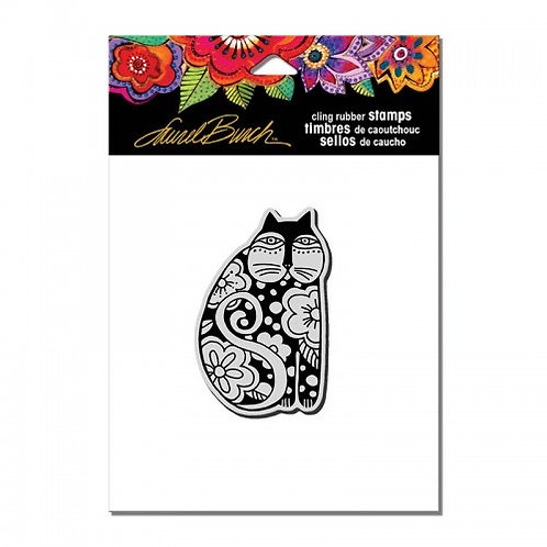 Flowering Feline Stampendous Cling Mount Rubber Stamps