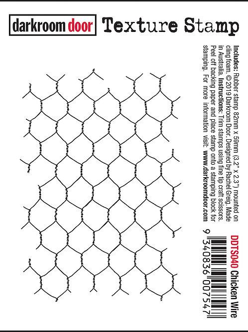 """Darkroom Door - """"Chicken Wire"""" Texture Rubber Stamp"""