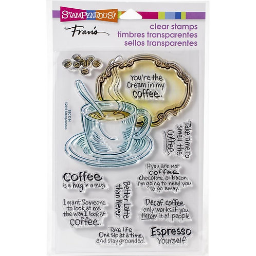 """""""Coffee Frame"""" Stampendous Clear Stamps by Laurel Birch 4""""x6"""""""