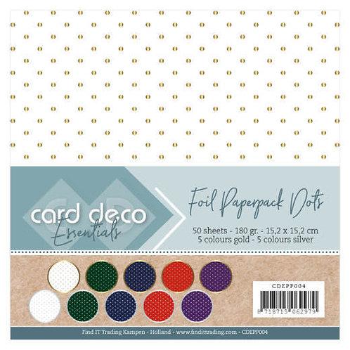 """6 x 6"""" Paper Pad (50pk) -Foil Paper 5 Colours 180gsm"""