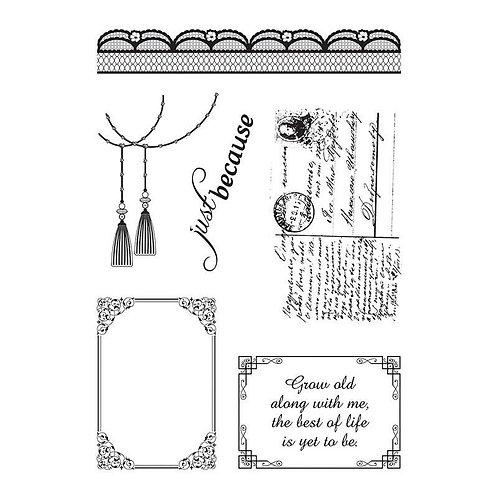 "Ultimate Crafts ""Magnolia Lane"" Stamp Set"
