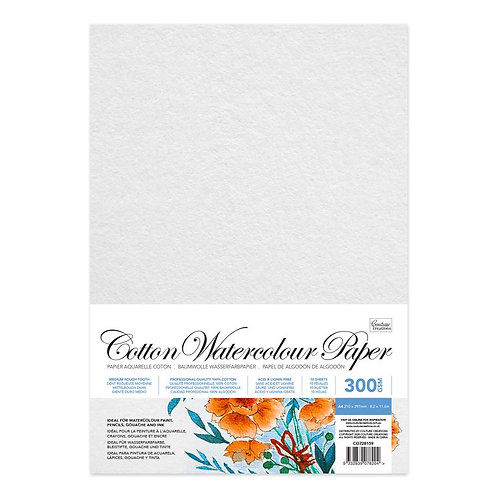 CottonWatercolour Paper A4 10pack 300gsm