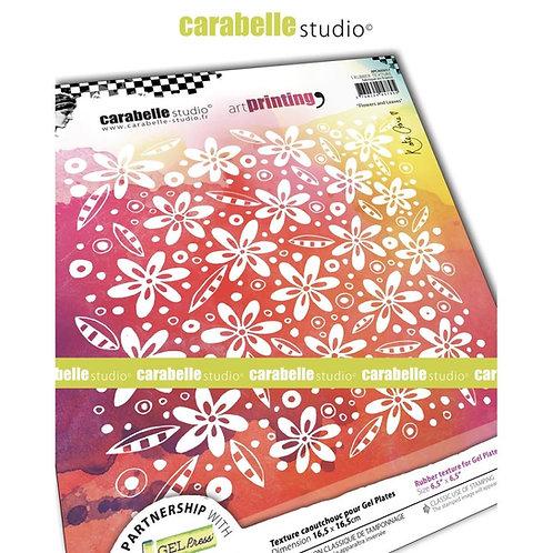 "Carabelle Studio Art Printing Rubber Texture Plate ""Flowers & Leaves"""