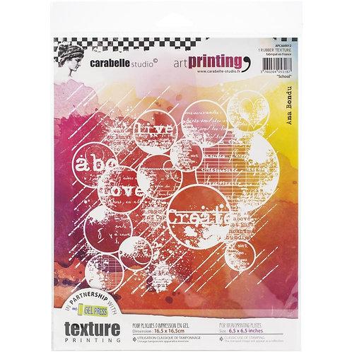 "Carabelle Studio Art Printing Rubber Texture Plate ""School"""