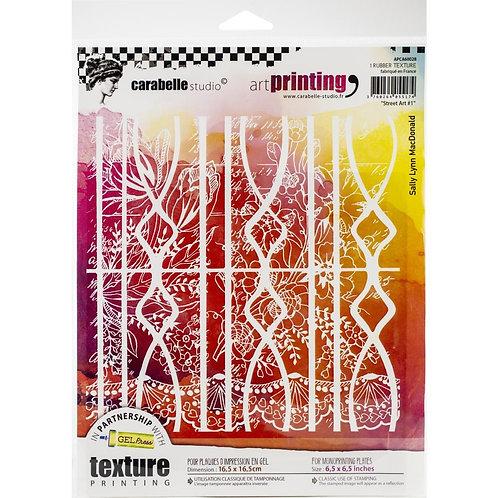 "Carabelle Studio Art Printing Square Rubber Texture Plate ""Street Art #1"""