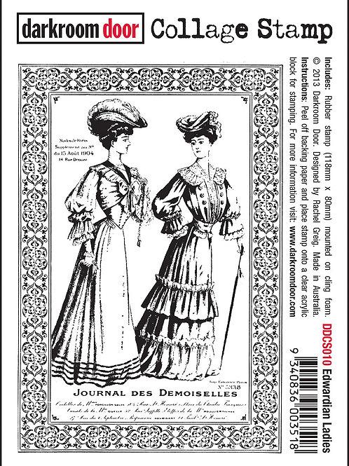 """Darkroom Door Collage Stamp - """"Edwardian Ladies"""""""