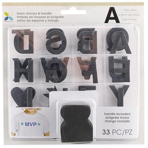 Momenta Foam Stamp Set Formal Font 4X4