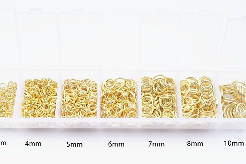 1200 Pcs Alloy Open Jump Rings Mixed Split Rings For DIY Jewelry Making