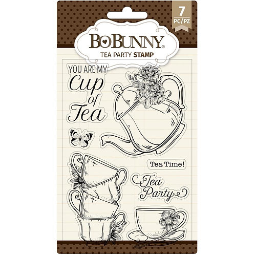 "BoBunny Clear Stamps 4""X6"" ""Tea Party"""
