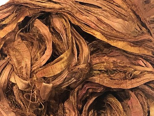5M Sari Silk Cinnamon Spice  (5Meters)