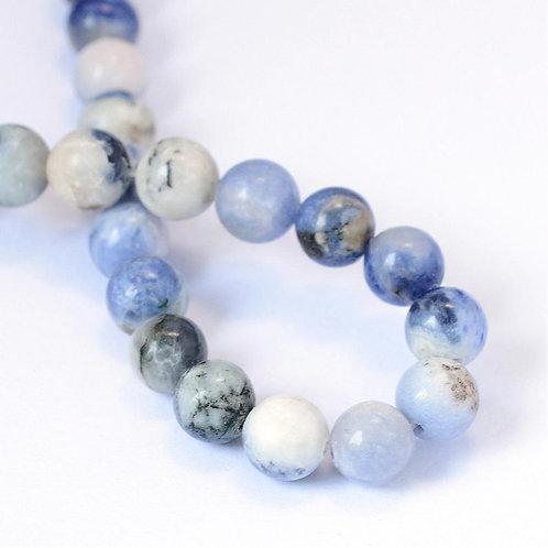 8MM Natural Sodalite Round Gemstone Beads.
