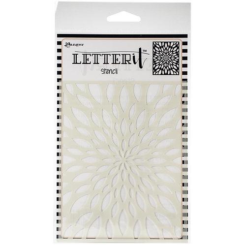 "Letterit Stencil 4""x6"" by Ranger""Flower Burst"""