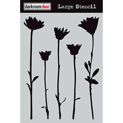 "Darkroom Door Large Stencil - 9x12 ""Wildflowers"""