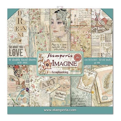 """Stamperia 12"""" x12"""" Paper pack """"Imagine"""""""