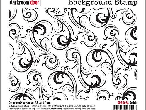 "Darkroom Door - ""Swirls""   Background Rubber Stamp"