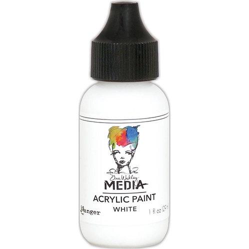 """Dina Wakley Media Acrylic Paint 1oz """"White"""""""