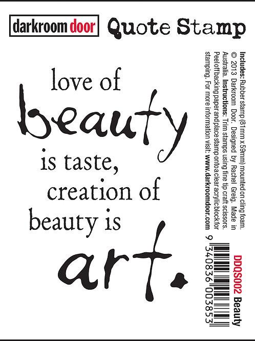 """Darkroom Door - """"Beauty"""" Quote Rubber Stamp"""