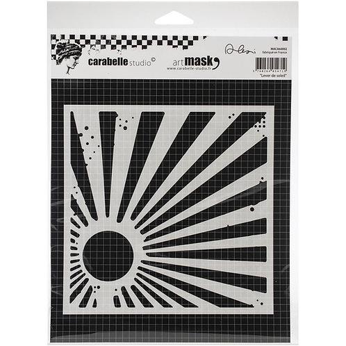 """Carabelle Studio Mask 6""""x 6"""" """"Lever de soleil"""""""