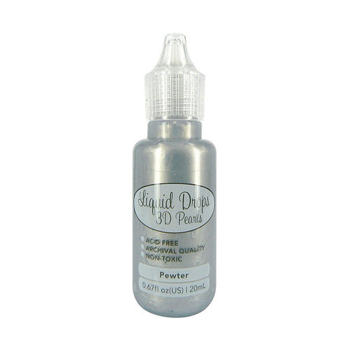 Ultimate Crafts Liquid Drops 3D Pearls Pewter
