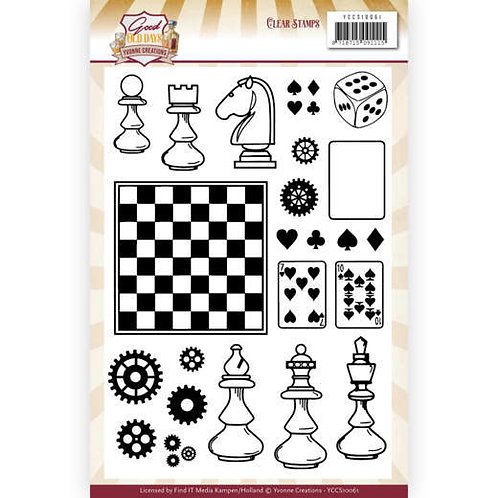 Good Old Days Chess Clear Stamps